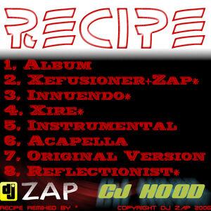 DJ Zap - Recipe EP - Cover