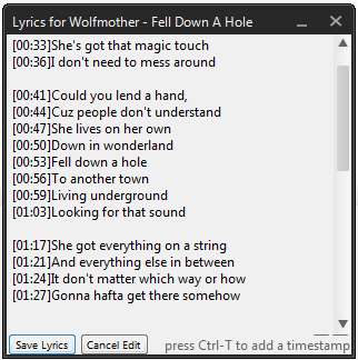 Floating Window Lyrics
