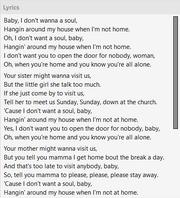 Lyrics Unsynced