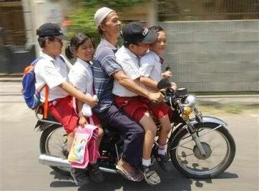 Indonesia motorcycle taxi