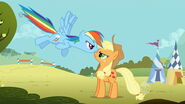 My little pony friendship is magic rainbow dash and applejack fighting