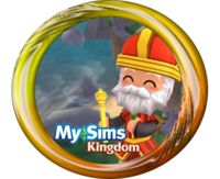MySims Kingdom Leaf Button