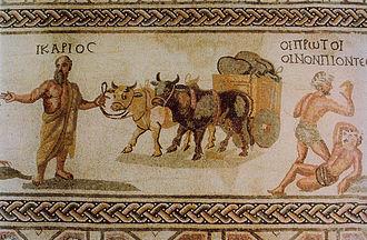 File:Paphos Mosaïque d'Icarios Transport de vin en outres IIIe s.jpg