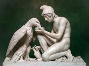 800px-Ganymede Waters Zeus as an Eagle by Thorvaldsen