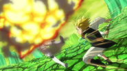 Meliodas using Full Counter on Guila's attack