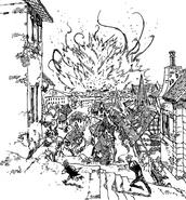 Meliodas and Ban witness King and Helbram battle