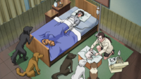 Hana treating Kiba and Akamaru.png
