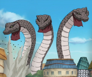 Three Ginat Snakes