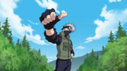 Kakashi passes Team 7