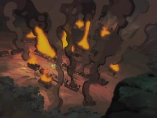 Kagero Village Destroyed