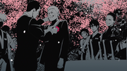 Iruka with Naruto at his wedding