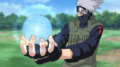 Kakashi Using Rasengan