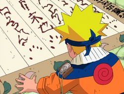 Naruto About To Sign His Name In The Contract.PNG