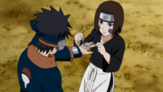 Rin heals Obito's wounds