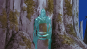Kakuzu hiding in water