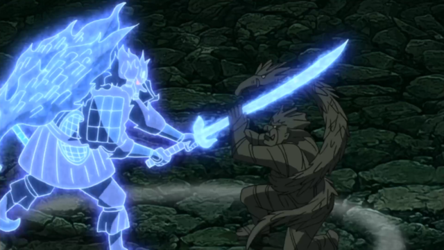 Madara Uchiha Susanoo Perfect Form Blue