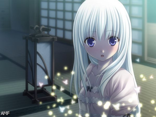 Image Wpid Anime Girl With Silver Hair And Blue Eyes