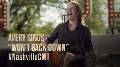"NASHVILLE on CMT Avery Barkley Sings ""Won't Back Down"""