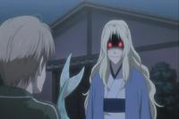 Sasafune threatening to eat natsume
