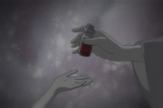 Chizu memory of getting the vial of blood