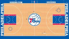Philadelphia 76ers court 2015
