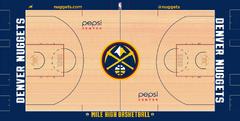 Denver Nuggets court logo