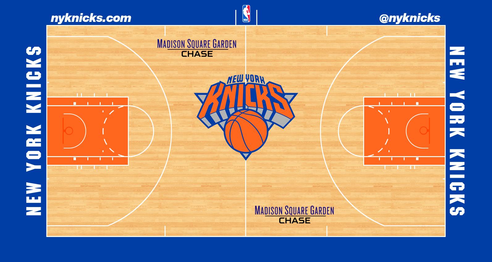 Image - New York Knicks court logo.png | Basketball Wiki ...