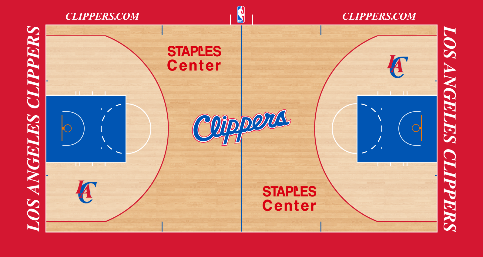 Image - Los Angeles Clippers court logo.png | Basketball ...
