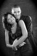Stephen Curry and Ayesha Alexander