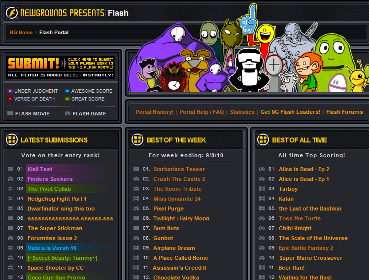 flash portal wikigrounds the free newgrounds