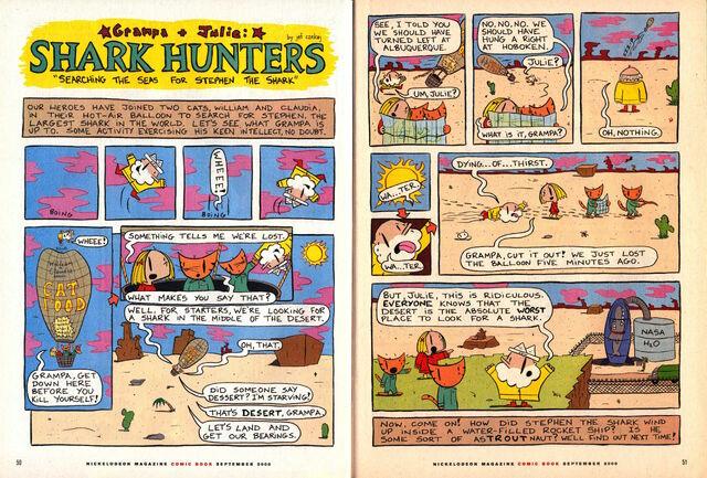 File:Nickelodeon Magazine Grampa Julie Shark Hunters September 2000.jpg