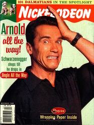 Nickelodeon magazine cover december 1996 arnold schwarzenegger