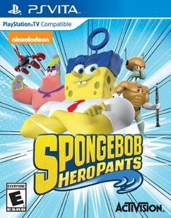 SpongeBob HeroPants Playstation Vita cover