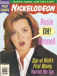 Nickelodeon magazine cover june july 1996 rosie odonnell