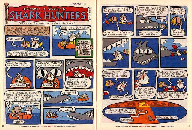 File:Nickelodeon Magazine Grampa Julie Shark Hunters Episode 4 January February 2000.jpg
