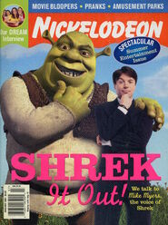 Nickelodeon Magazine cover June July 2001 Shrek Mike Myers
