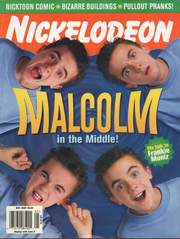 File:Nickelodeon Magazine cover May 2000 Malcolm in the Middle Frankie Muniz.jpg