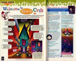 Nickelodeon Magazine May 2001 Invader Zim Jhonen Vasquez
