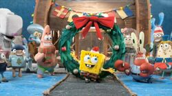 Its a SpongeBob Christmas Cast Shot