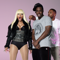 Minaj with <a href=