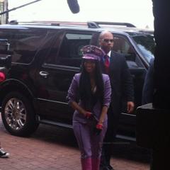 Nicki looks fabulous in San Antonio