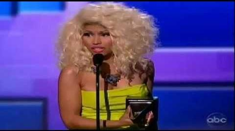 Nicki Minaj Wins HIP Hop Award at 2012 American Music Awards AMA Favorite Rap Hip-Hop Artist