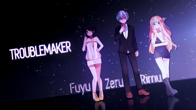 File:FuyuZeruRimu - TROUBLE MAKER.png