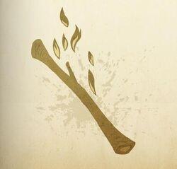 Burnt stick