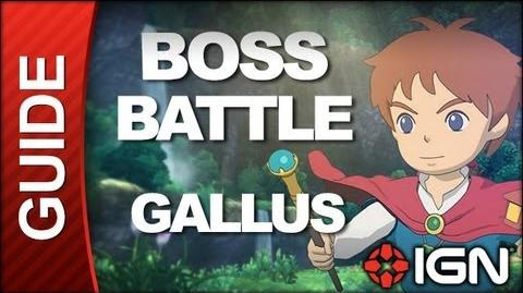 Ni No Kuni Wrath of the White Witch - Boss Battle Strategy Gallus (POSSIBLE SPOILERS)