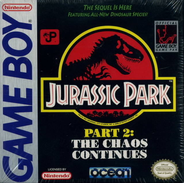 Jurassic Park Part 2 The Chaos Continues Game Boy