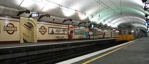 Sydney Trains S set train at Museum Station