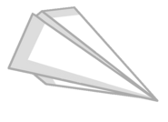 Paper airplane Transparent Body asset