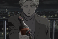 Johan offering Richard a drink