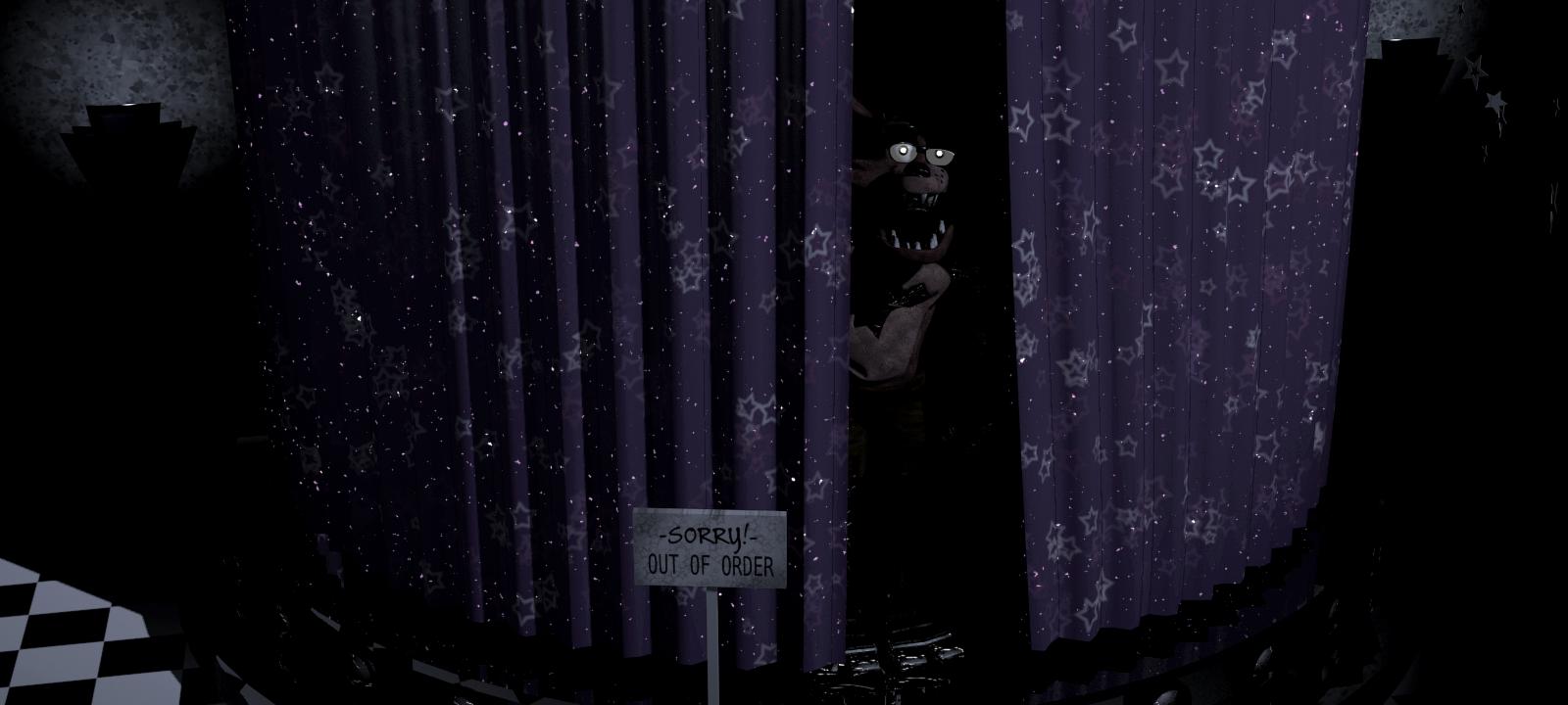 Open black curtain - Qbjasc2